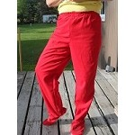 large footed flannel pants
